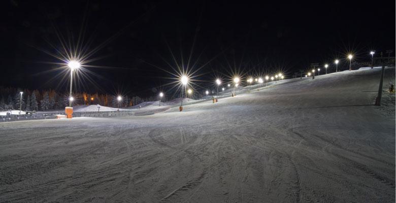 lezioni di sci notturne